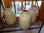 Set of 2 pottery pieces and jug...