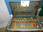 Gold Vermeil silverware in box...