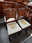 Set of 4 wood frame chairs, 2 need ...